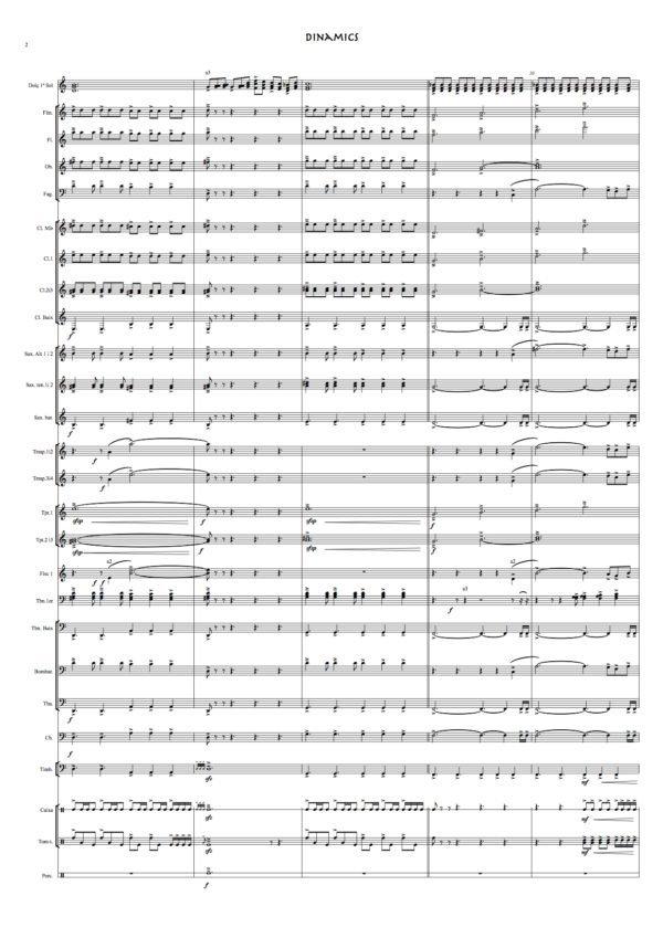 dinamics banda partitura (rafa sanz espert) partitura completa 1