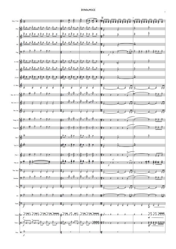 dinamics banda partitura (rafa sanz espert) partitura completa 3