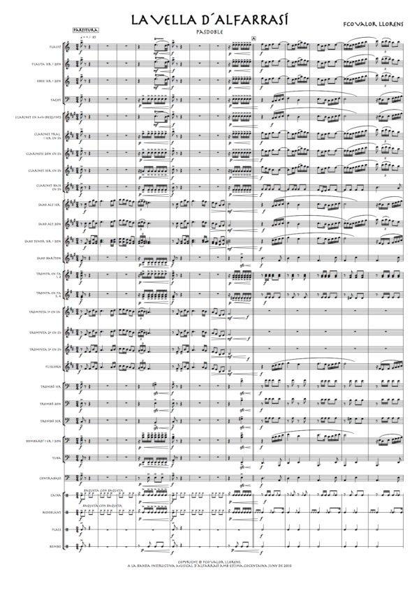 la vella d´alfarrasí partitura