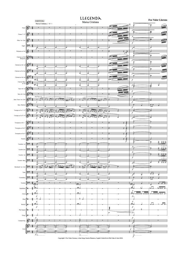 llegenda partitura