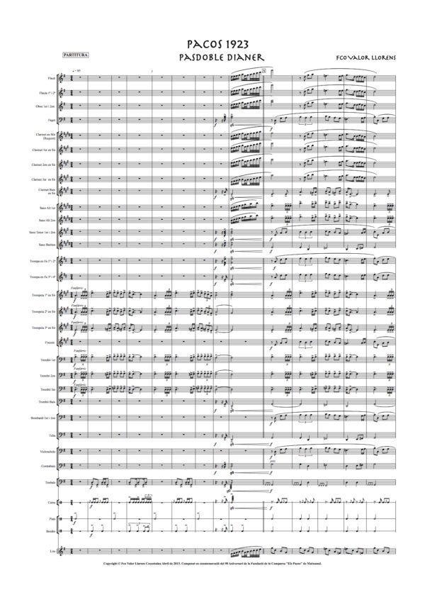 pacos 1923 partitura
